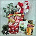 Red Snow Flake Gift Basket Box