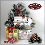 Rustic Country Winter Let it Snow Gift Basket