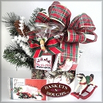 Rustic Winter Country Christmas Gift Basket Box
