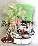 Shades of My Garden Gift Basket Tote