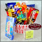 Snack Attack Candy Gift Basket Red
